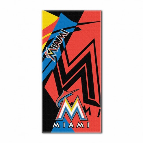 Miami Marlins Puzzle Beach Towel