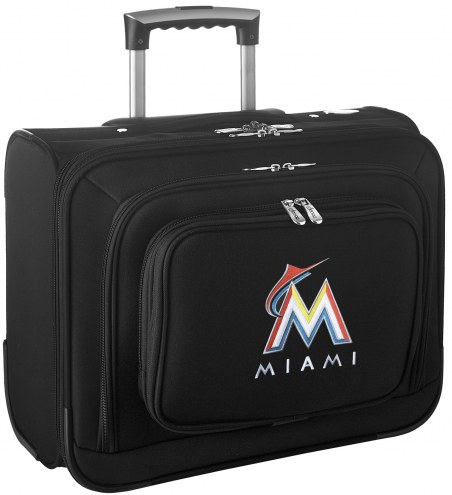 Miami Marlins Rolling Laptop Overnighter Bag