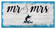 Miami Marlins Script Mr. & Mrs. Sign