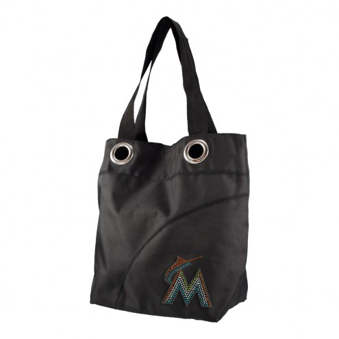 Miami Marlins Sport Noir Sheen Tote