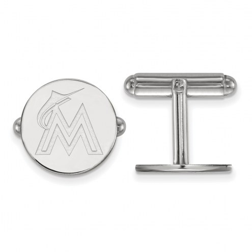 Miami Marlins Sterling Silver Cuff Links