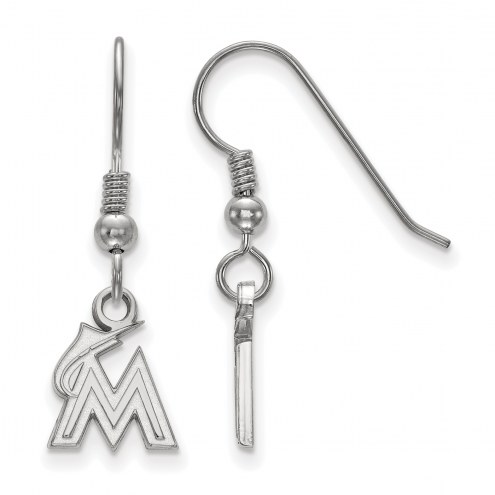Miami Marlins Sterling Silver Extra Small Dangle Earrings