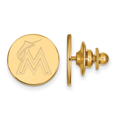 Miami Marlins Sterling Silver Gold Plated Lapel Pin