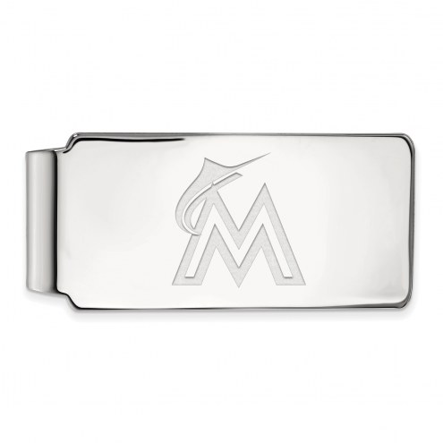 Miami Marlins Sterling Silver Money Clip