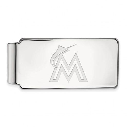 Miami Marlins Sterling Silver Money Clip