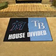 Miami Marlins/Tampa Bay Rays House Divided Mat