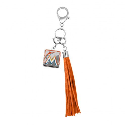 Miami Marlins Tassel Purse Charm