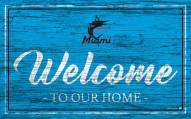 Miami Marlins Team Color Welcome Sign