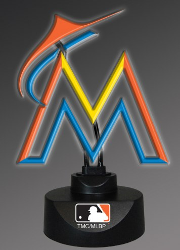 Miami Marlins Team Logo Neon Lamp