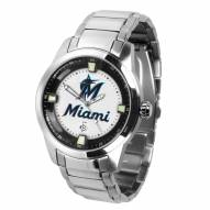 Miami Marlins Titan Steel Men's Watch