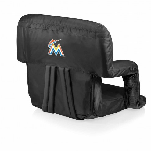 Miami Marlins Ventura Portable Outdoor Recliner