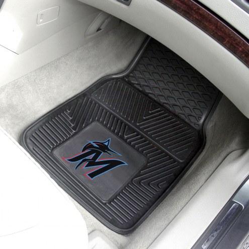 Miami Marlins Vinyl 2-Piece Car Floor Mats