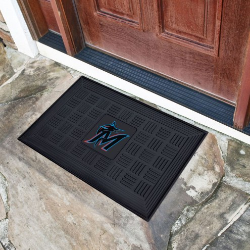 Miami Marlins Vinyl Door Mat