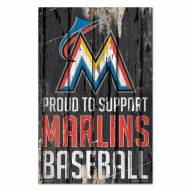 Miami Marlins Proud to Support Wood Sign