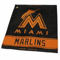 Miami Marlins Woven Golf Towel