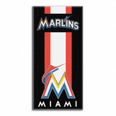 Miami Marlins Zone Read Beach Towel