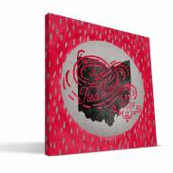 "Miami of Ohio Redhawks 12"" x 12"" Born a Fan Canvas Print"