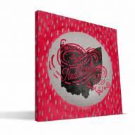 """Miami of Ohio Redhawks 12"""" x 12"""" Born a Fan Canvas Print"""