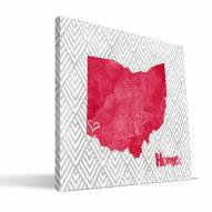 "Miami of Ohio Redhawks 12"" x 12"" Home Canvas Print"