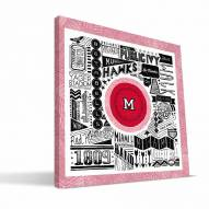 "Miami of Ohio Redhawks 16"" x 16"" Pictograph Canvas Print"