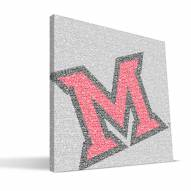 "Miami of Ohio Redhawks 16"" x 16"" Typo Canvas Print"