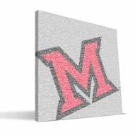 "Miami of Ohio Redhawks 16"" x 16"" Typo Canvas Print"