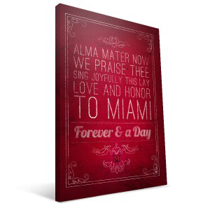 "Miami of Ohio Redhawks 16"" x 24"" Song Canvas Print"