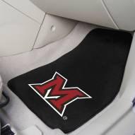 Miami of Ohio RedHawks 2-Piece Carpet Car Mats