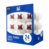 Miami of Ohio RedHawks 24 Count Ping Pong Balls
