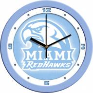 Miami of Ohio Redhawks Baby Blue Wall Clock
