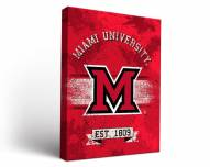 Miami of Ohio RedHawks Banner Canvas Wall Art