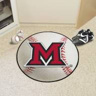 Miami of Ohio RedHawks Baseball Rug