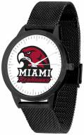 Miami Of Ohio Redhawks Black Mesh Statement Watch