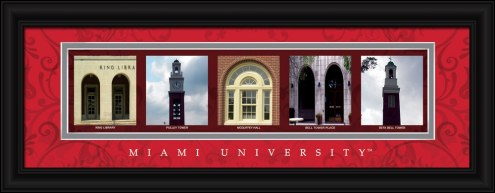 Miami of Ohio RedHawks Campus Letter Art