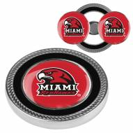 Miami of Ohio Redhawks Challenge Coin with 2 Ball Markers