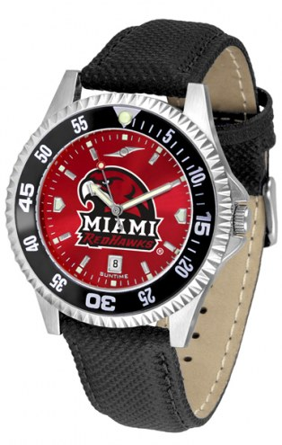 Miami of Ohio Redhawks Competitor AnoChrome Men's Watch - Color Bezel