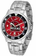 Miami of Ohio Redhawks Competitor Steel AnoChrome Color Bezel Men's Watch