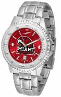 Miami of Ohio Redhawks Competitor Steel AnoChrome Men's Watch