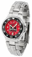 Miami of Ohio Redhawks Competitor Steel AnoChrome Women's Watch - Color Bezel