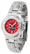 Miami of Ohio Redhawks Competitor Steel AnoChrome Women's Watch