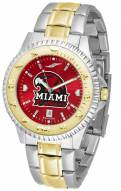 Miami of Ohio Redhawks Competitor Two-Tone AnoChrome Men's Watch