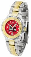 Miami of Ohio Redhawks Competitor Two-Tone AnoChrome Women's Watch