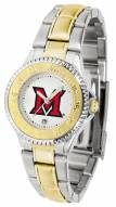 Miami of Ohio Redhawks Competitor Two-Tone Women's Watch