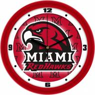 Miami of Ohio Redhawks Dimension Wall Clock