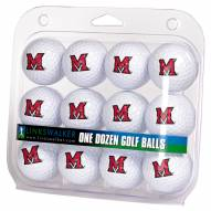 Miami Of Ohio Redhawks Dozen Golf Balls