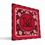 Miami of Ohio Redhawks Eclectic Canvas Print