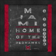 Miami of Ohio RedHawks Eye Chart