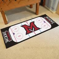 Miami of Ohio Redhawks Hockey Rink Runner Mat