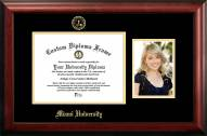 Miami of Ohio RedHawks Gold Embossed Diploma Frame with Portrait