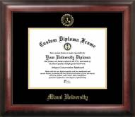 Miami of Ohio RedHawks Gold Embossed Diploma Frame